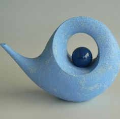 rick rudd. NZ teapot - from the biggest collection of his recent work I've seen. (This is one of several magnificent works of art in ceramic that illustrate spirals or swirls).