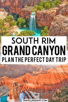 Can you visit the Grand Canyon in just one day? Grand Canyon South Rim, Grand Canyon Camping, Grand Canyon Arizona, Trip To Grand Canyon, Grand Canyon National Park, Us National Parks, Arizona Road Trip, Arizona Travel, Road Trip Usa