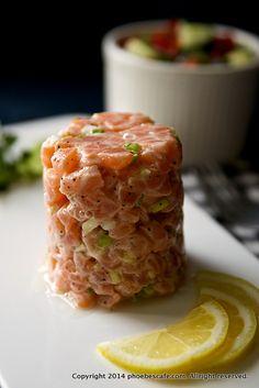 サーモンタルタルの作り方,グルテンフリー料理、パレオ、ダイエット食、健康サーモン料理、サラダ、魚料理、