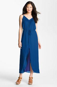 37b935c1369 Gianetta ~ chiffon overlay knit maxi dress.