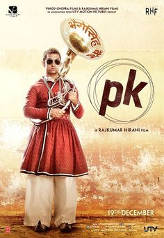 PK is a 2014 Hindi comedy-drama film directed by Rajkumar Hirani starring Aamir Khan in the lead role, with Anushka Sharma, Sushant Singh Rajput, Boman Irani and Sanjay Dutt appearing in supporting roles. Hd Movies, Movies And Tv Shows, Movie Tv, Streaming Movies, Hindi Comedy, Boman Irani, Motion Poster, Aamir Khan, Movies To Watch Online