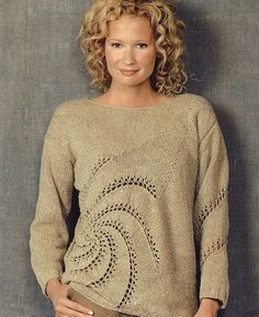 I love different kinds of constructions...which is why Norah's patterns are always a favorite of mine...    Reynolds--Norah Gaughan--Swirl Pullover