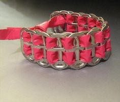 handmade duct tape and soda can tabs bracelet. Plus 101 + ideas for duct tape crafts Crafts For Boys, Diy Projects For Teens, Diy For Teens, Crafts To Make, Fun Crafts, Craft Projects, Creative Crafts, Teen Diy, Crafts Cheap