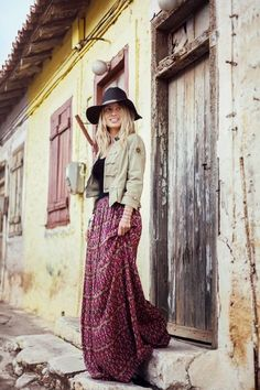 adore the skirt #boho #hippie
