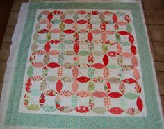 Applique quilt pinned and ready to quilt by Pink for me, via Flickr