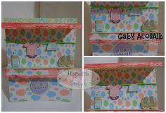 """Invitacion para Baby shower tipo tiendita Tuto de @bettyreyes  Emoticón heart Papel """"nubes pasteles"""" de Paper Scrapbook Wal's Design"""