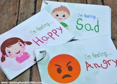 Emotions postcards to help teach emotional development with children, 3 different sets or you can purchase one complete set.