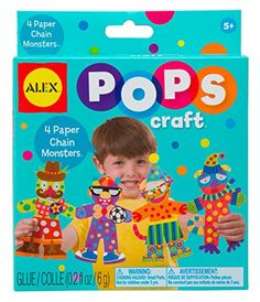ALEX Toys POPS Craft 4 Paper Chain Monsters >>> ON SALE Check it Out