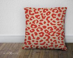 Leopard Print Throw Pillow Cover  As Seen on by MotifMotifShop, $57.99 #throwpillow #homedecor #animalprint