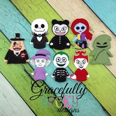 NBC this is Halloween Finger Puppet Embroidery Design - 4x4 Hoop or Larger