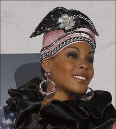 Womens Donna Vinci Special Occasion First Lady Church Hat in Black and Mauve H1393 Buy here: http://amzn.to/13CpP7G