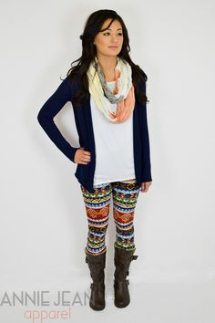 Multi-Color Aztec Legging