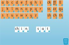 A simple tool with alphabet cards for arranging on the screen. Now including sh, ch, th. Interactive Whiteboard, Interactive Activities, Teaching Activities, Teaching Tools, Letter Games, Phonics Games, Alphabet Cards, Phase 2