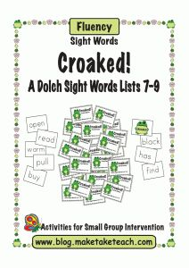 4/2012 FREE sight word game