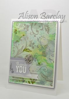 Gothdove Designs - Alison Barclay - Stampin' Up! Australia - Bokeh Technique card with Flowering Flourishes #bokeh #watercolour #colorcoach #stampinup #stampinupaustralia #stampinupsouthpacific #floweringflourishes #somethingborrowed #thankyou #card #JustAddInk #alwaysplayingwithpaper @stampinup