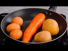 2 krumpli, tojás és egy serpenyő. Egyszerű, olcsó és gyors!  Ízletes TV - YouTube Sweet Potato, Sausage, Maya, Fruit, Vegetables, Desserts, Potatoes, Breakfast, Sweets