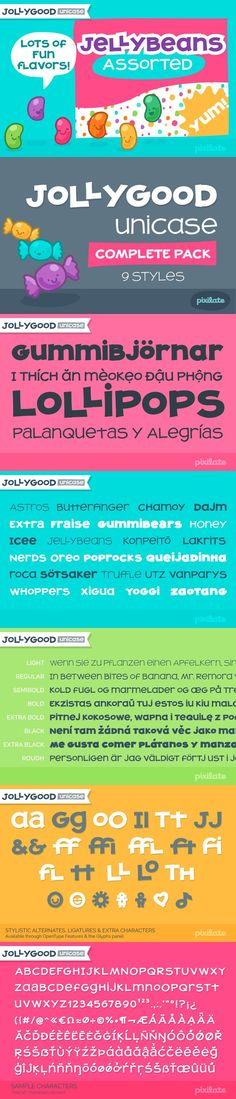 JollyGood Unicase Complete. Display Fonts. $59.00