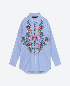 Image 8 of POPLIN SHIRT from Zara