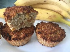 Banános zabpelyhes muffin Meatloaf, Banana Bread, Muffins, Paleo, Food And Drink, Gluten Free, Breakfast, Healthy, Desserts