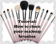 Taylor Pie Beauty : Tutorial: How to clean your makeup brushes