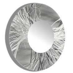 Round Modern Metal Wall Art Mirror Large by JonAllenMetalArt