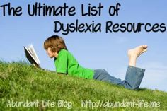 Great list of dyslexia resources including books, websites, blogs, apps and Pinterest boards.