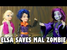 Frozen Elsa Saves Zombie Mal After Mal Bites Disney Zombie Princesses. DisneyToysFan