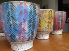 Tea cup feathers Kate and Roger Ceramics