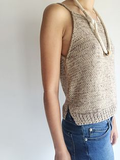 Tank top, pattern on Ravelry
