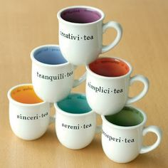 -Tea mugs.  I feel like I should have all of these...