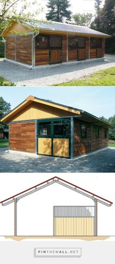 Compact three horse barn | Röwer & Rüb - created via pinthemall.net