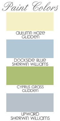 Paint Colors - <3 ALL 4 of them! Can't wait to pick out the colors for our New Home!! Super excited!! Light for dining and stairs and loft. Green for kitchen blue for living rm and grey blue for bed rm