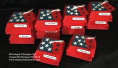 A bunch of Treat Boxes made with the new Stampin' Up! Burger Box Die coming in the new catalog available June Pretty Packaging, Gift Packaging, Hamburger Box, Fry Box, American Heritage Girls, Disney Scrapbook, Scrapbooking, Treat Holder, Stamping Up Cards