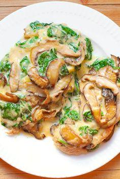 Chicken spinach mushroom