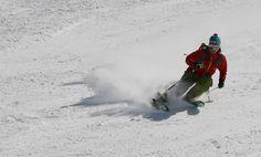 Skiing in Hintertux, Tyrol, Austria.