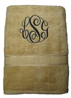 Monogramed Towel Set by TheSouthernPineapple on Etsy, $33.00