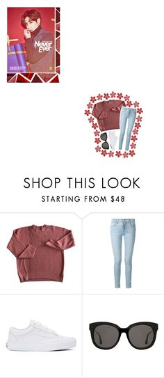 """Mark + Burgundy"" by triple-threat36 ❤ liked on Polyvore featuring WALL, Frame, Vans and Gentle Monster"