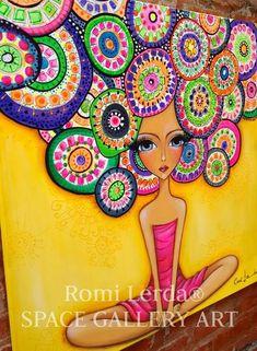 Risultati immagini per romi lerda mandalas Art Pop, Mandala Art, Art Journal Inspiration, Painting Inspiration, Pintura Graffiti, Dot Art Painting, Whimsical Art, Art Plastique, Doodle Art