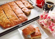 型も使わず、しかもホットケーキミックスで簡単にできる「天板ケーキ」なら、お菓子作り初心者でも安心。