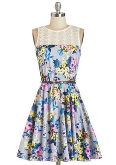 Closet Sleeveless A-line Bloom for More Dress