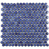 Found it at Wayfair - Penny 12'' x 12'' Porcelain Mosaic Tile in Sapphire