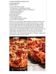 Chicken Parmesan Spaghetti Pie