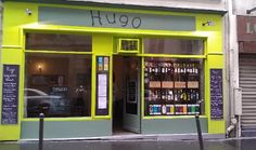 Hugo (12 rue papillon, 75009 Paris, France). Colorful dishes in a 10-table restaurant.