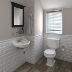 For bathroom paint colour. Metro tiles used to great effect with the Oxford cloakroom suite Cloakroom Suites, Cloakroom Basin, Metro Tiles Bathroom, Bathroom Interior, Metro White, Ideas Baños, Decor Ideas, Traditional Toilets, Small Toilet