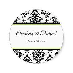 Etiqueta redonda del favor del boda de la cal y