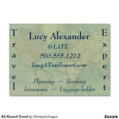 All Aboard Travel Large Business Cards (Pack Of 100)