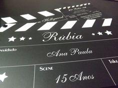 Convite 15 anos Rúbia  - Tema Cinema