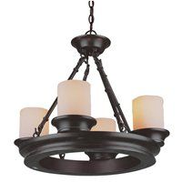 allen + roth 3364 4-Light Bronze Chandelier