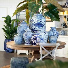 Porcelana chinesa azul e branca - chique e clássica