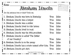 Printables Abraham Lincoln Worksheets pinterest the worlds catalog of ideas first grade a la carte abraham lincoln